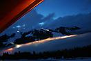 Blick auf Königsleiten unter Wolken in Österreich